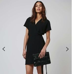 Topshop Black Wrap Dress